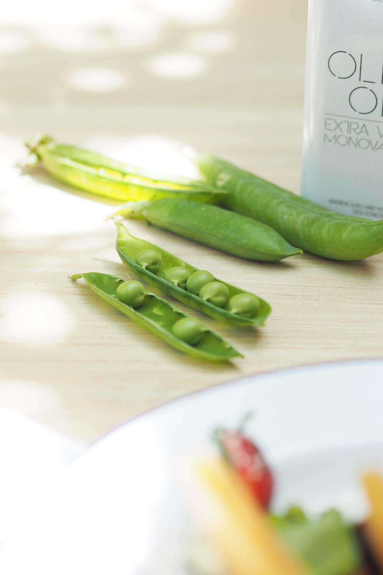 {Recette} Salade melon, fraise, feta, petits pois, olives - Tippy.fr