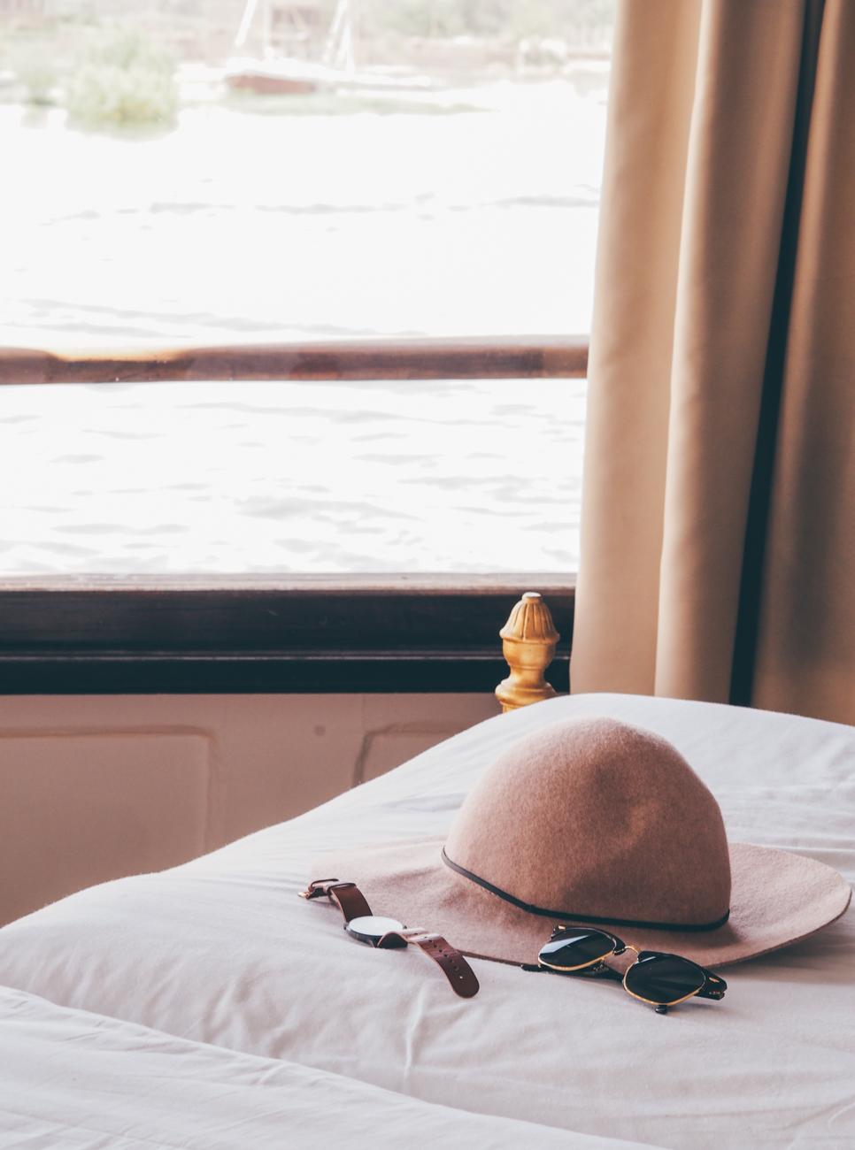 """L'Égypte avec Voyageurs du Monde / Tippy.fr - Cabine de """"La Reine Victoria"""" sur le Steam Ship Sudan"""