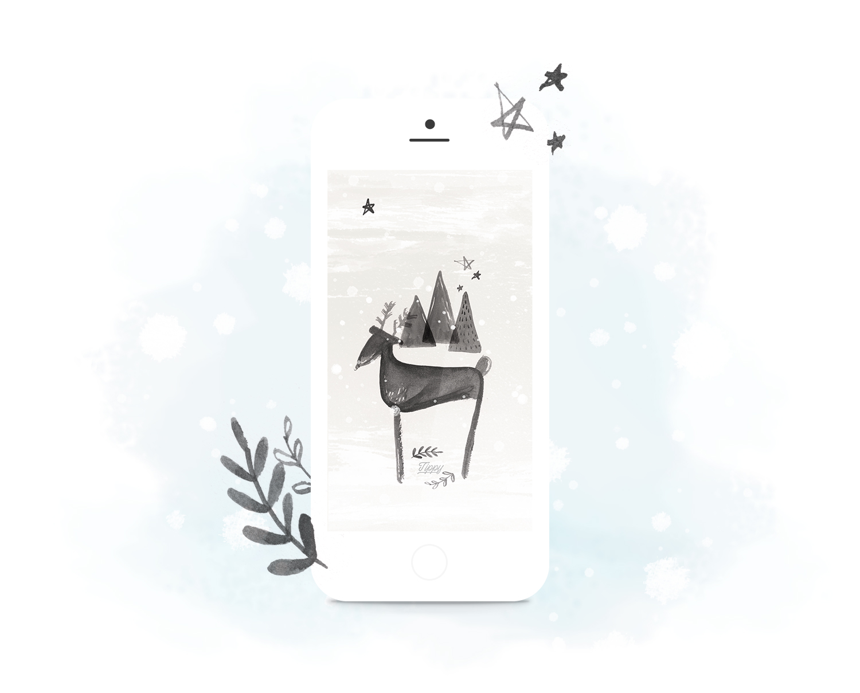 À la montagne - Petit fond d'écran pour l'hiver / Tippy.fr