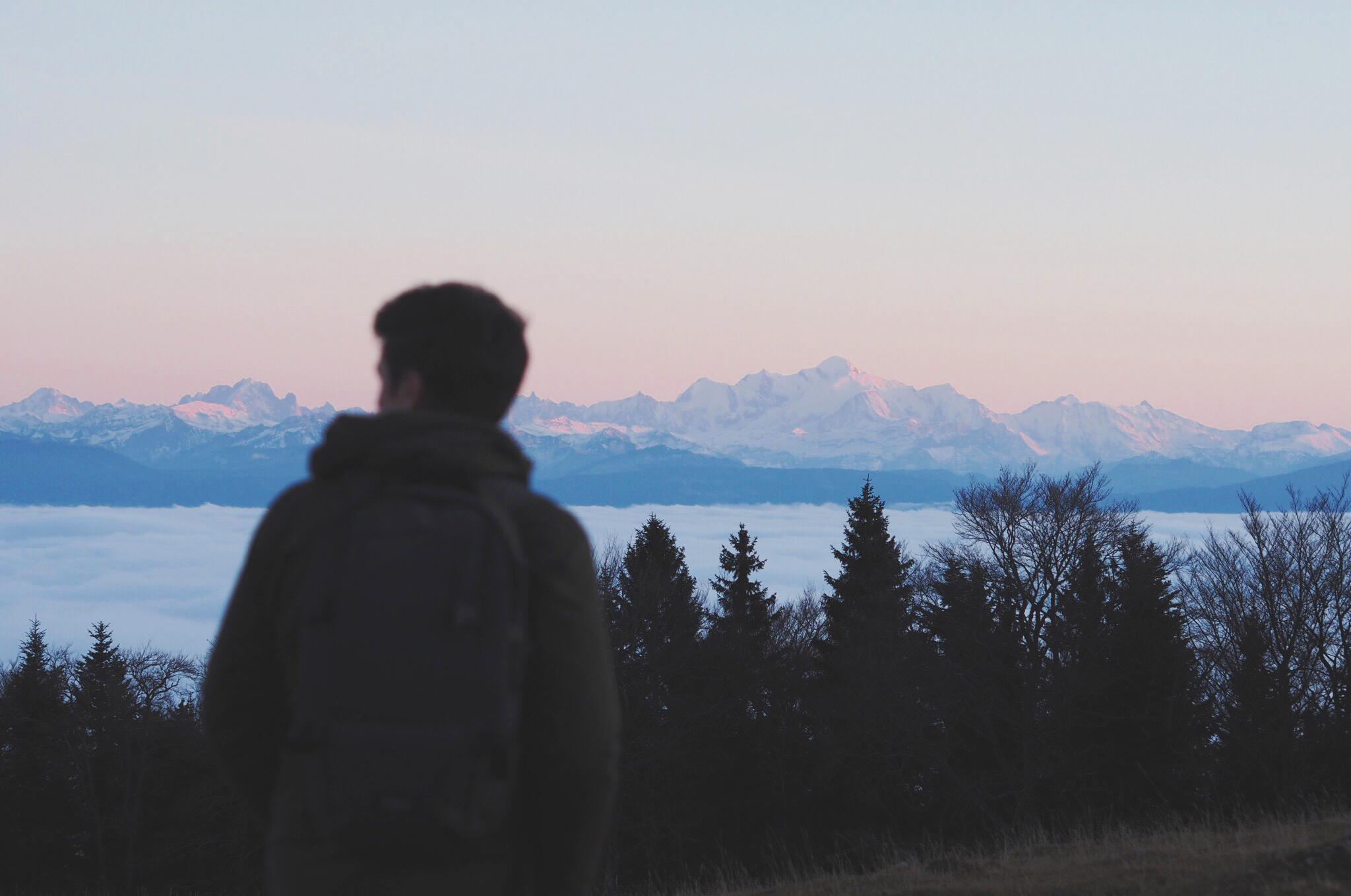 Le Mont Blanc depuis le Jura / Tippy.fr
