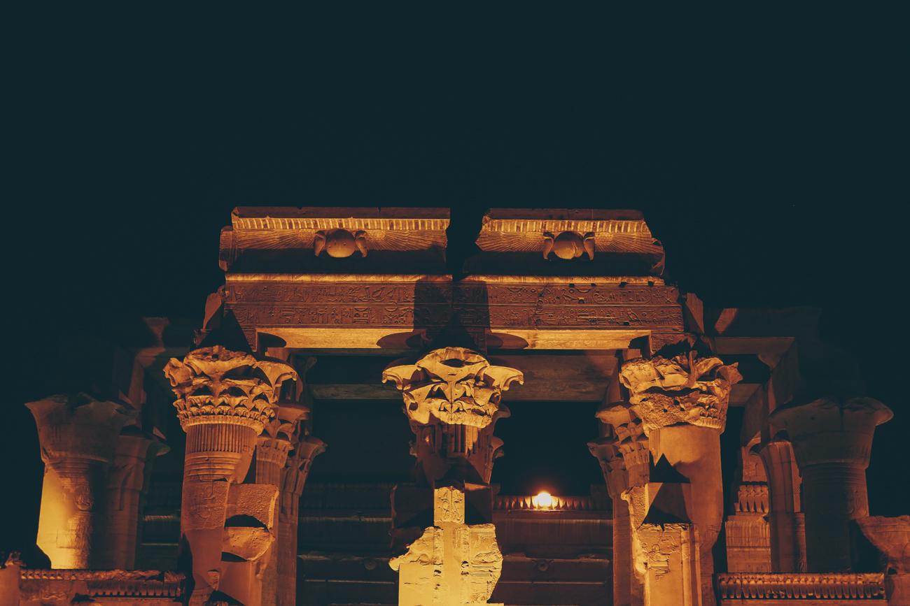 L'Égypte avec Voyageurs du Monde / Tippy.fr - Découvrir le temple de Kôm Ombo de nuit